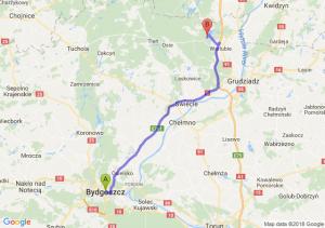 Trasa Bydgoszcz - Warlubie