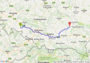 Korfantów (opolskie) - Osiek (świętokrzyskie)