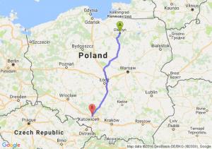 Olsztyn (warmińsko-mazurskie) - Pyskowice (śląskie)