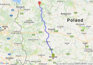 Wrocław (dolnośląskie) - Złocieniec (zachodniopomorskie)