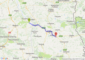 Trasa Bąkowiec - Kębłów