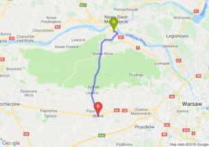 Trasa Kazuń Nowy - Błonie