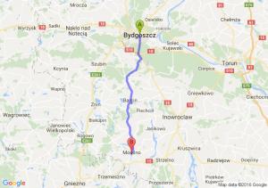 Bydgoszcz (kujawsko-pomorskie) - Mogilno (kujawsko-pomorskie)