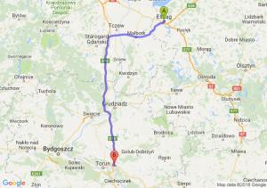 Trasa Elbląg - Lubicz Dolny