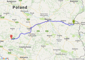 Biała Podlaska (lubelskie) - Kępno (wielkopolskie)