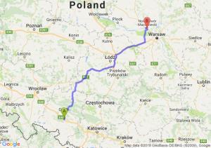 Trasa Dąbrówka Górna - Kazuń Nowy