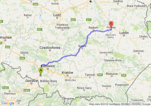 Trasa Żory - Puławy