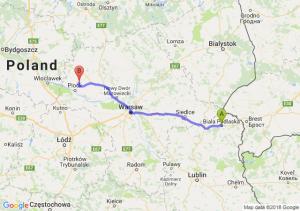 Trasa Biała Podlaska - Bielsk