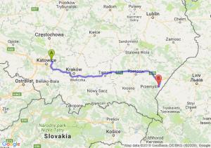 Trasa Dąbrowa Górnicza - Przemyśl