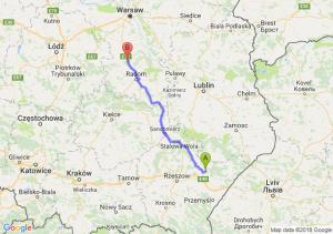 Trasa Sieniawa - Białobrzegi