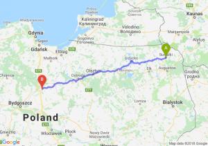 Trasa Suwałki - Grudziądz