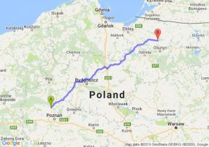 Oborniki (wielkopolskie) - Dobre Miasto (warmińsko-mazurskie)