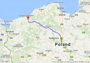 Trasa Toruń - Białogard