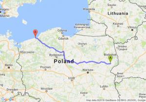 Trasa Bielsk Podlaski - Sarbinowo