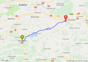Trasa Myślenice - Łapczyca