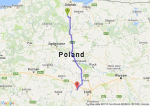 Starogard Gdański (pomorskie) - Poddębice (łódzkie)
