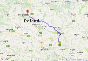 Trasa Białobrzegi - Unisław
