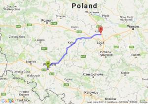 Trasa Bielany Wrocławskie - Piątek