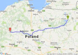 Orzysz (warmińsko-mazurskie) - Piła (wielkopolskie)