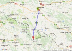 Trasa Biskupice Podgórne - Międzylesie