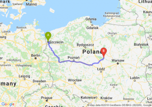 Trasa Szczecin - Płock