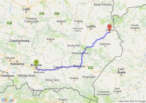 Trasa Kraków - Chełm