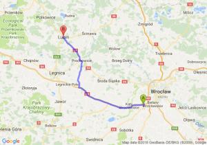 Trasa Biskupice Podgórne - Lubin