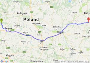 Wronki (wielkopolskie) - Bielsk Podlaski (podlaskie)