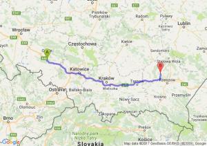 Trasa Dąbrówka Górna - Kolbuszowa
