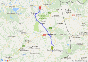Bielsk Podlaski (podlaskie) - Rajgród (podlaskie)