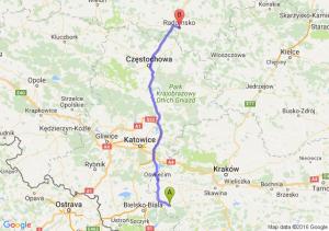 Andrychów (małopolskie) - Radomsko (łódzkie)