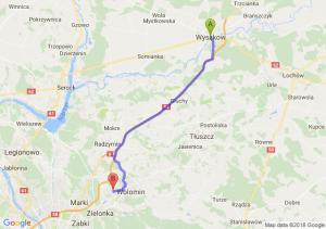 Trasa Wyszków - Kobyłka