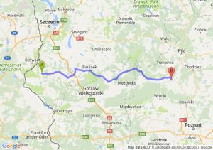 Chojna (zachodniopomorskie) - Czarnków (wielkopolskie)
