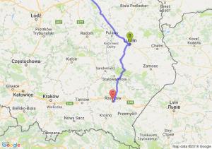 Józefin - Lublin (lubelskie) - Rzeszów (podkarpackie)