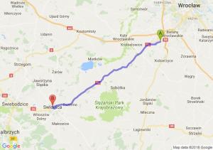 Trasa Tyniec Mały - Świdnica