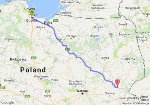 Gdańsk (pomorskie) - Drohiczyn (podlaskie)