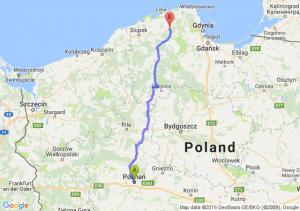 Poznań (wielkopolskie) - Lębork (pomorskie)