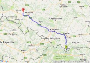Zakopane (małopolskie) - Środa Śląska (dolnośląskie)