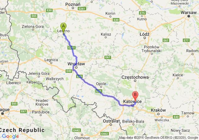 Leszno (wielkopolskie) - Będzin (śląskie)