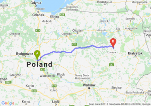 Trasa Toruń - Stawiski
