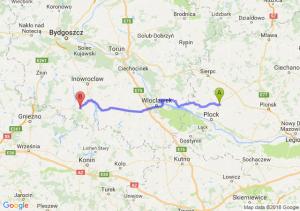 Trasa Bielsk - Strzelno