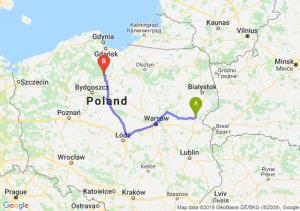 Trasa Siemiatycze - Warlubie