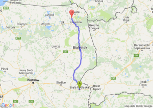 Trasa Biała Podlaska - Raczki
