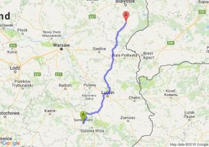 Sandomierz - Bielsk Podlaski