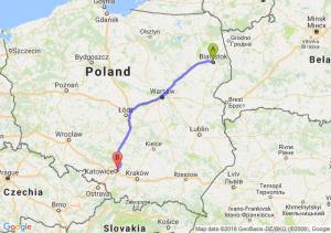 Trasa Białystok - Sosnowiec