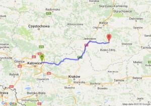 Trasa Dąbrowa Górnicza - Chmielnik