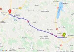 Trasa Sieradz - Kalisz