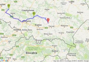 Rogalice (opolskie) - Brzeg (opolskie) - Opatowiec (świętokrzyskie)