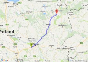 Milanówek (mazowieckie) - Rajgród (podlaskie)