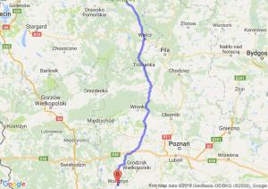 Trasa Czaplinek - Wolsztyn